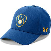 Men's Under Armour Milwaukee Brewers Driving Adjustable Cap