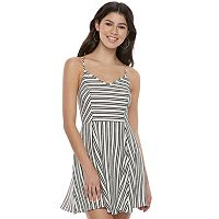 Juniors' Love, Fire Striped Skater Dress