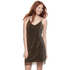 Juniors' Love, Fire Metallic Slip Dress