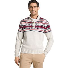 Men's IZOD Regular-Fit Fairisle Mockneck Sweater