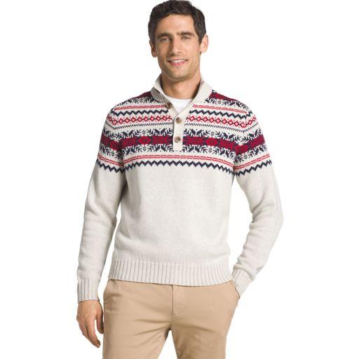 Men's IZOD Regular-Fit Fairisle Mockneck Sweater