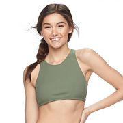 Mix and Match Ribbed High-Neck Bikini Top