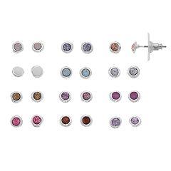 LC Lauren Conrad Pastel Bezel Nickel Free Stud Earring Set