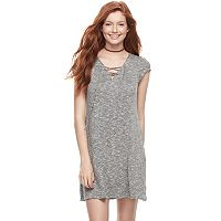 Juniors' Love, Fire Lace-Up Sheath Dress