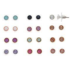 LC Lauren Conrad Milgrain Solitaire Nickel Free Stud Earring Set