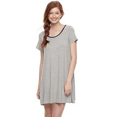Juniors' Love, Fire Pinstripe T-Shirt Dress
