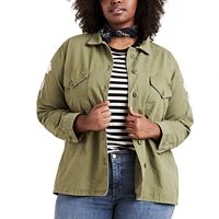 Plus Size Levi's Military Shirt Jacket