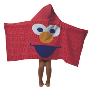 Sesame Street Hip Sesame Elmo Hooded Towel by PBS Kids