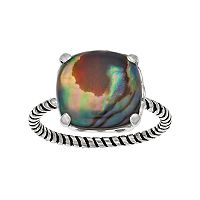 olive & ivy Abalone Cushion Ring