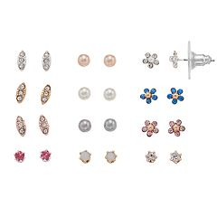 LC Lauren Conrad Flower Nickel Free Stud Earring Set