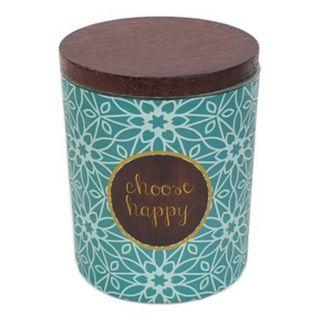 WoodWick ''Choose Happy'' Vanilla Gourmand 9.5-oz. Candle Jar
