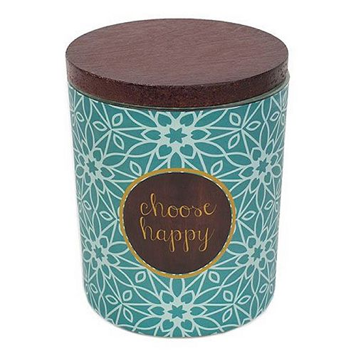 WoodWick ''Choose Happy'' Vanilla Gourmand 9.5-oz. Candle Jar