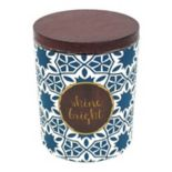 WoodWick ''Shine Bright'' Vanilla Gourmand 9.5-oz. Candle Jar