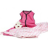 3 Stories Trading Co. 3 pc Warm Snuggles Pink Baby Essentials Gift Set
