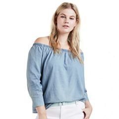 Plus Size Levi's Off-The-Shoulder Blouse