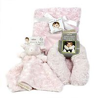Blankets & Beyond Rosettes Nunu Pink Baby Gift Set