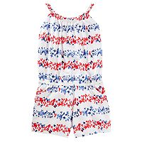 Girls 4-12 OshKosh B'gosh® Red & Blue Floral Romper