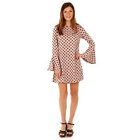 Juniors' Wallflower Printed Bell-Sleeve Dress