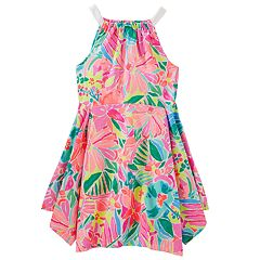 Girls 4-12 OshKosh B'gosh® Floral Handkerchief Hem Dress