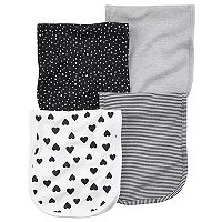 Baby Girl Carter's 4 pkHeart Print Burp Cloths