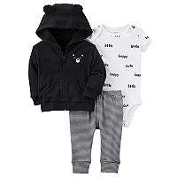 Baby Boy Carter's Bear Cardigan, Bodysuit & Pants Set