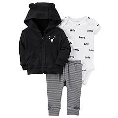 Baby Boy Carter's Bear Cardigan, Bodysuit & Pants Set