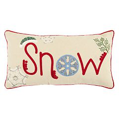 Rizzy Home 'Snow' Oblong Throw Pillow