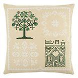 Rizzy Home Tree Cross Stitch Throw Pillow