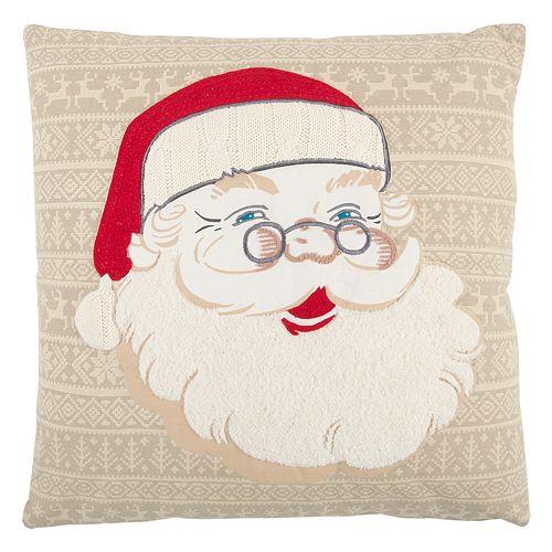 Rizzy Home Santa Claus Face Throw Pillow