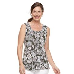 Petite Croft & Barrow® Pintuck Tank
