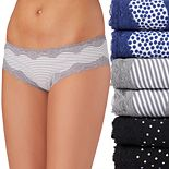 Juniors' Saint Eve® 6-Pack Hipster With Lace Panties 516402P6