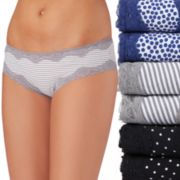 Juniors' Saint Eve 6-Pack Hipster With Lace Panties 516402P6