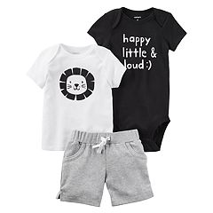 Baby Boy Carter's Lion Top, Bodysuit, & Shorts Set
