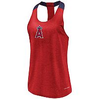 Women's Majestic Los Angeles Angels of Anaheim Racerback Tank Top