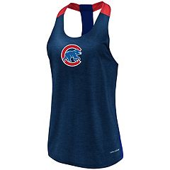 Women's Majestic Chicago Cubs Racerback Tank Top