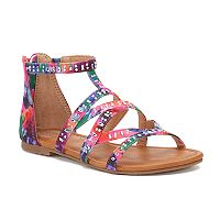 SO® Ring Toss Girls' Gladiator Sandals