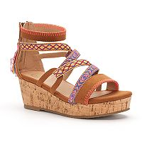 SO® Tightrope Girls' Wedge Sandals