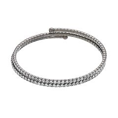 Brilliance Coil Bracelet with Swarovski Crystals