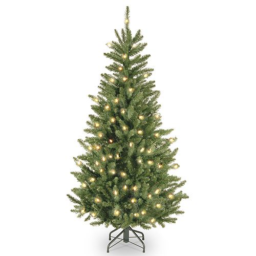 National Tree Company 4.5-ft. Clear Pre-Lit Fraser Fir Slim Artificial Christmas Tree