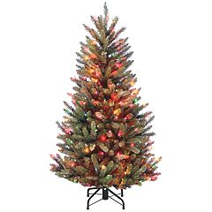 National Tree Company 4.5-ft. Multicolored Pre-Lit Fraser Fir Slim Artificial Christmas Tree