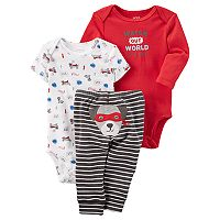 Baby Boy Carter's 3 pc Puppy Bodysuit & Pants Set