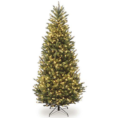 national tree company 7 ft clear pre lit fraser fir slim artificial christmas tree - Fraser Fir Artificial Christmas Tree