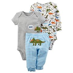 Baby Boy Carter's 3 pc Dinosaur Bodysuit & Pants Set