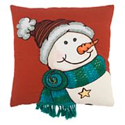 Rizzy Home Happy Snowman Throw Pillow