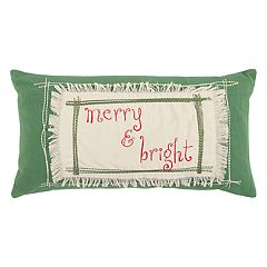 Rizzy Home 'Merry & Bright' Oblong Throw Pillow