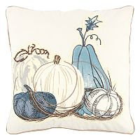 Rizzy Home Muted Pumpkins II Throw Pillow