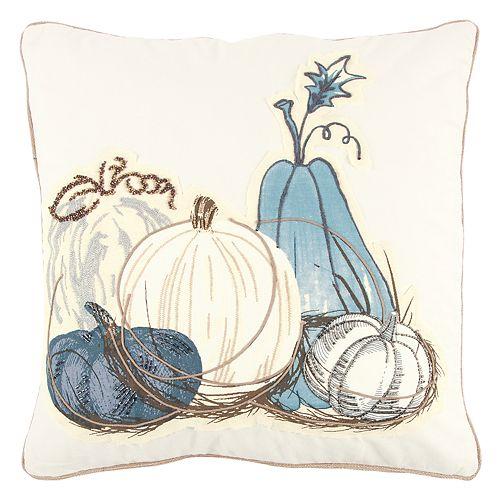 Rizzy Home Muted Pumpkins II Throw Pillow
