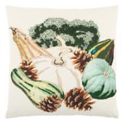 Rizzy Home Fall Gourds Throw Pillow
