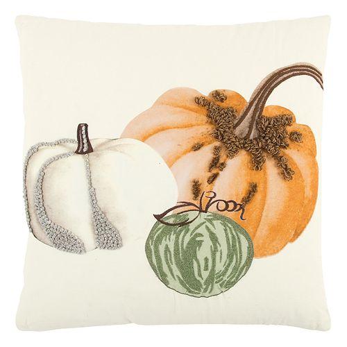 Rizzy Home Pumpkin Trio II Throw Pillow