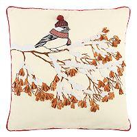 Rizzy Home Winter Bird on Branch Throw Pillow
